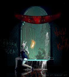 Rapture Bioshock splicer digital art on Etsy Bioshock Tattoo, Bioshock Rapture, Bioshock Game, Bioshock Series, Bioshock Infinite, Video Game Art, Video Games, Irrational Games, Underwater City