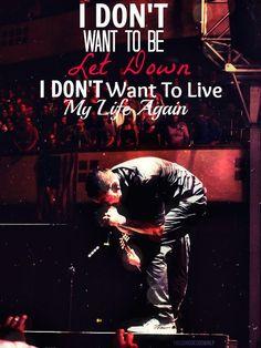 Chester Bennington - let down lyrics - Dead by Sunrise