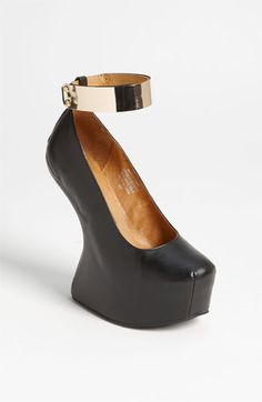 Speechless! 50 Shades of Jeffrey Campbell! Beyond intrigued! YES please!!! Jeffrey Campbell 'Watch-Cuff' Pump | Nordstrom