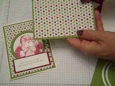 ▶ Stampin' UP! Santa's List Card - YouTube