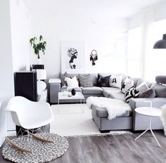 35 Scandinavian Living Room Design for Best Home Decoration Home Interior, Home Living Room, Apartment Living, Interior Design Living Room, Living Room Designs, Living Room Decor, Interior Livingroom, Design Scandinavian, Scandinavian Living