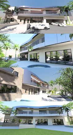 Contemporary house plan designs for the self-builder. We offer totally unique and inspiring modern designs for stunning new contemporary residences, to give your dream home the best possible start. Home Design Plans, Plan Design, Maids Room, Curved Staircase, Contemporary House Plans, Bedroom With Ensuite, Entrance Hall, Balconies, Closets