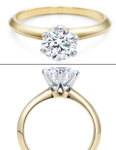Tiffany & Co.  The Tiffany setting in 18k Yellow Gold. I could die.