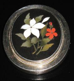 antique pietra dura brooch micro mosaic jewelry