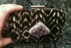 Luxury clutches Velvet,silk,amethyst By Mania Botsi