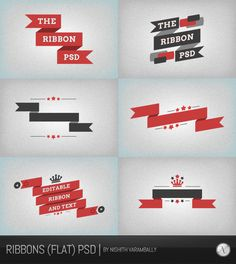 Ribbon PSD Vector Files | PSDDude