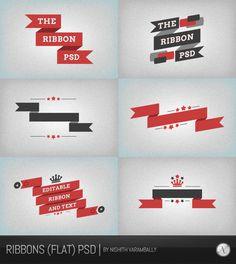 Ribbon PSD Vector Files | PSDDude