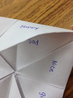 A Love for Teaching: Fortune Teller Antonym Practice