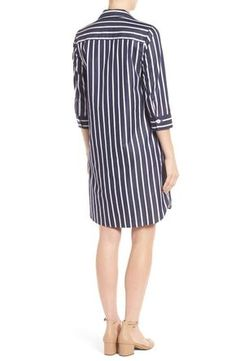 Product Image 2 Cotton Shirt Dress, Striped Shirt Dress, Casual, Latest Trends, Shirt Designs, Nordstrom, Dresses For Work, Womens Fashion, Shirts