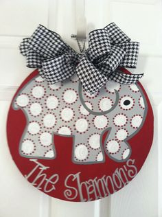 University of Alabama Door Hanger Alabama Door by GoatsandGlitter, $30.00