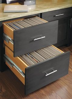 Create a sleek, modern look in your home office with Decora's Double File Drawer. It does double duty as a style statement piece and key organizational feature in the room.