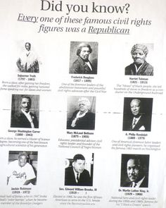 Black Republicans- the Democrats don't want you to know. Civil Rights Figures, Mary Mcleod Bethune, Black Republicans, George Washington Carver, Frederick Douglass, Harriet Tubman, Conservative Politics, We The People, Real People