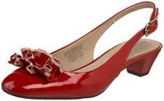 Rockport red patent slingbacks