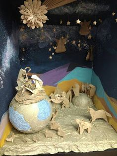 Artes da Yone !: Feliz Natal !! Presépio de Origami Grupo Orisampa ...