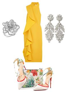 """""""💛"""" by queen-naznaz ❤ liked on Polyvore featuring Solace, Christian Louboutin and Effy Jewelry"""