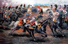 12 de febrero de Austerlitz 1805., granaderos a Cheval vs Chevalier Guardia - Aleksandr Yezhov