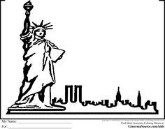 new york coloring pages - New York Coloring Pages