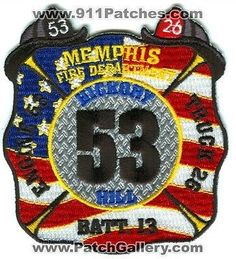 Memphis Fire Department Engine 53 Truck 26 Battalion 13 MFD Patch Tennessee TN Memphis Fire Department, House Logos, Tennessee Fire, Thing 1, Cool Patches, Fire Fighters, Firemen, Fire Apparatus, Wooden Projects