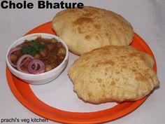 Chole bhature, indian fried bread, panjabi chole bhature