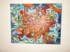 Handpainted Chaos style deep edged canvas avaliable from  www.urbanized.co.uk . Banksy style #urban #urbanart #graffiti #graffitiart #streetart #furniture #interiordesign #bespoke #uk #bristol #abstract #abstractart #contemporary  #handmade #handpainted #wood #interiordesign #urbanfurniture #urbanfurniture  #solidwood #OldSchool #urbanized #mirror #modern #modernfurniture #interior #canvas #urbanized