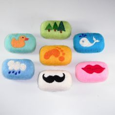 Needle Felting on Pinterest | Felted Soap, California Rolls and Felt