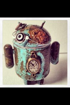 "Custom vinyl Toy Android 3"" Rusted Time Keeper Android"