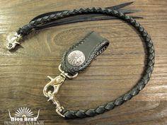 Rakuten: Four 925 belt loop & knitting wallet rope set saddle leather wallet chain key loop key ring saddle leather soft leather / silver conchos- Shopping Japanese products from Japan