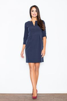 Sylvia Dress in navy Ashley Brooke, Summer Office Wear, Dress Up, Shirt Dress, Rock, Fashion Outfits, Womens Fashion, Style Guides, Mini Skirts
