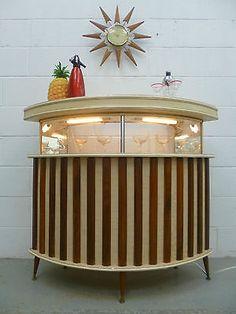 LARGE Retro Vintage 60s 70s Cocktail Home Drinks Bar Cabinet
