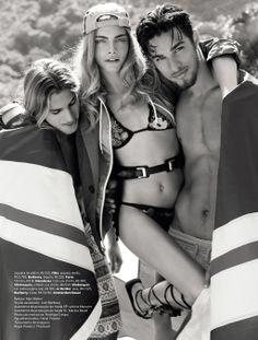 Fashion-Erotic-Fine Art-Nude-Inspiration: Cara Delevingne by J.R. Duran for Vogue Brazil November 2012