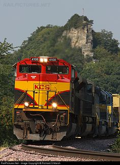 RailPictures.Net Photo: KCS 4108 Kansas City Southern Railway EMD SD70ACe at Guttenberg, Iowa by Richard S Marsh