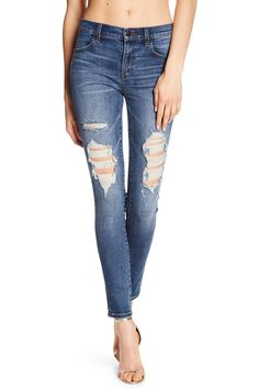 Maria High Rise Distressed Skinny Jeans by J Brand on @nordstrom_rack