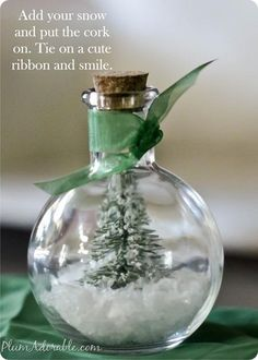 DIY Snow Globes : DIY WATERLESS SNOW GLOBES