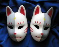 Fox masks 4 by Mishutka on DeviantArt Cool Anime Pictures, Cute Anime Profile Pictures, Cosplay Weapons, Cosplay Diy, Mascaras Anbu, Anbu Mask, Japanese Fox Mask, Kitsune Mask, Cool Masks