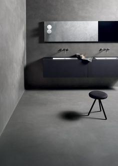 Pavimento continuo con texture in calce tadelakt CEMENTOCRUDO (CC) - Kerakoll Design House
