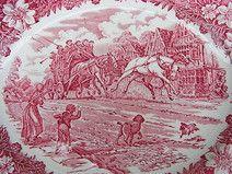 vintage Servierplatte englische Keramik Traverns