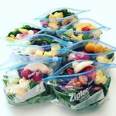 Esses sacos de frutas e vegetais que vão se transformar nos smoothies de alguém…