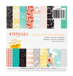Amy Tangerine - Stitched Collection - 6x6 Paper Pad - SharBearCrafts