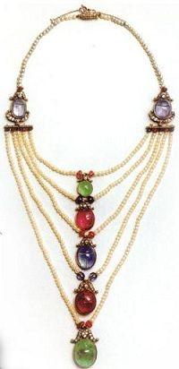 Crown princess Margaret's scarab necklace