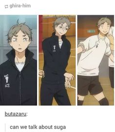 We can always talk about Suga // Suga is me in so many ways...