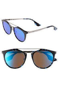 c6f473a790a3 MCQ ALEXANDER MCQUEEN Designer McQ by Alexander McQueen 53mm Round  Sunglasses