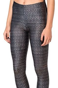 Roseate Women's 3D Pattern Leggings Fitted Pants Gym Workout Running Tights 807