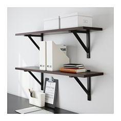 IKEA - EKBY JÄRPEN / EKBY VALTER, Wall shelf, black,