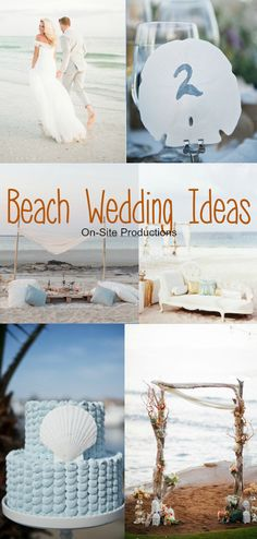 A roundup of beautiful, romantic beach wedding ideas!