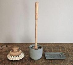 Hmm... A stylish toilet brush holder. Toilet Brush Holder by Iris Hantverk