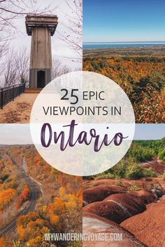There's no doubt that Ontario is a beautiful place. See it from above with these 25 best scenic lookouts in Ontario. Quebec, Vancouver, Places To Travel, Places To Go, Canada Destinations, Amazing Destinations, Ontario Travel, Travel Usa, Travel Tips