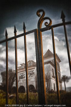"Beautiful ""Detail of old iron gate to an."" metal poster created by Carlos Caetano. Our Displate metal prints will make your walls awesome. Haunted Images, Iron Gates, Haunted Mansion, Print Artist, Cool Artwork, Royalty Free Images, Abandoned, Poster Prints, Wall Art"