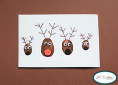 ADORABLE Family thumbprint reindeer - would make a cute Christmas card!