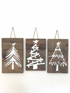 Rustic Christmas Tree Signs Christmas Tree Sign Set Christmas Tree Signs Farmhouse Christmas Decor Rustic Signs with Twine Sign Set Rustic Wood Signs Christmas Decor Farmhouse Rustic Set Sign Signs tree Twine Noel Christmas, Christmas Tree Ornaments, Christmas Wreaths, Christmas Movies, Classy Christmas, Rustic Christmas Tree Decorations, Christmas Vacation, Homemade Christmas, Reindeer Decorations