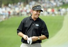 Fun Facts, Trivia and Biographical Profile of Golfer Phil Mickelson: Phil Mickelson, pictured at the 2004 Masters - site of his first major championship victory.